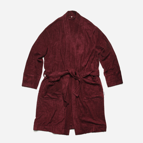[ 시즌 오프 30% 할인 ] Bamboo yarn long robe cardigan_ burgundy_버건디