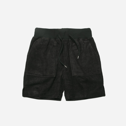 [ 시즌 오프 30% 할인 ] Bamboo yarn half pants_ black_블랙