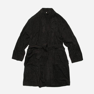 [ 시즌 오프 30% 할인 ] Bamboo yarn long robe cardigan_ black_블랙