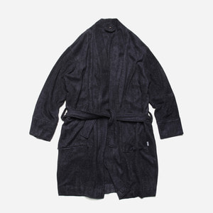 [ 시즌 오프 30% 할인 ] Bamboo yarn long robe cardigan_ navy_네이비